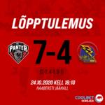 Hooaja esimene elamusterohke kodumäng mängitud ja võit tuli koju! HC Panter 7 – 4 Tartu Välk