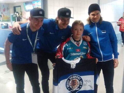 13-aastase Põhja-Iirimaa poisi suurimaid eeskujusid on Eesti hokikoondise väravavaht Villem-Henrik Koitmaa