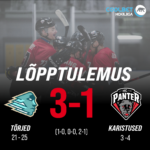 HC EVEREST VS HC PANTER MÄNG LÕPPES SEISUGA 3-1