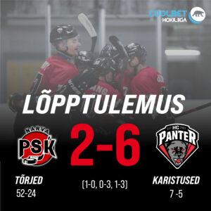 HC Panter alistas Narva PSK, lõppseisuks jäi 2-6.