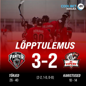 HC Panter alistas kodus HC Vipersi, lõppseisuks jäi 3-2