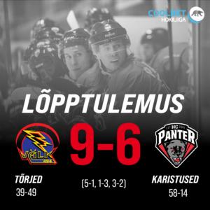 Tartu Välk alistas HC Panteri ja lõppseisuks jäi 9-6