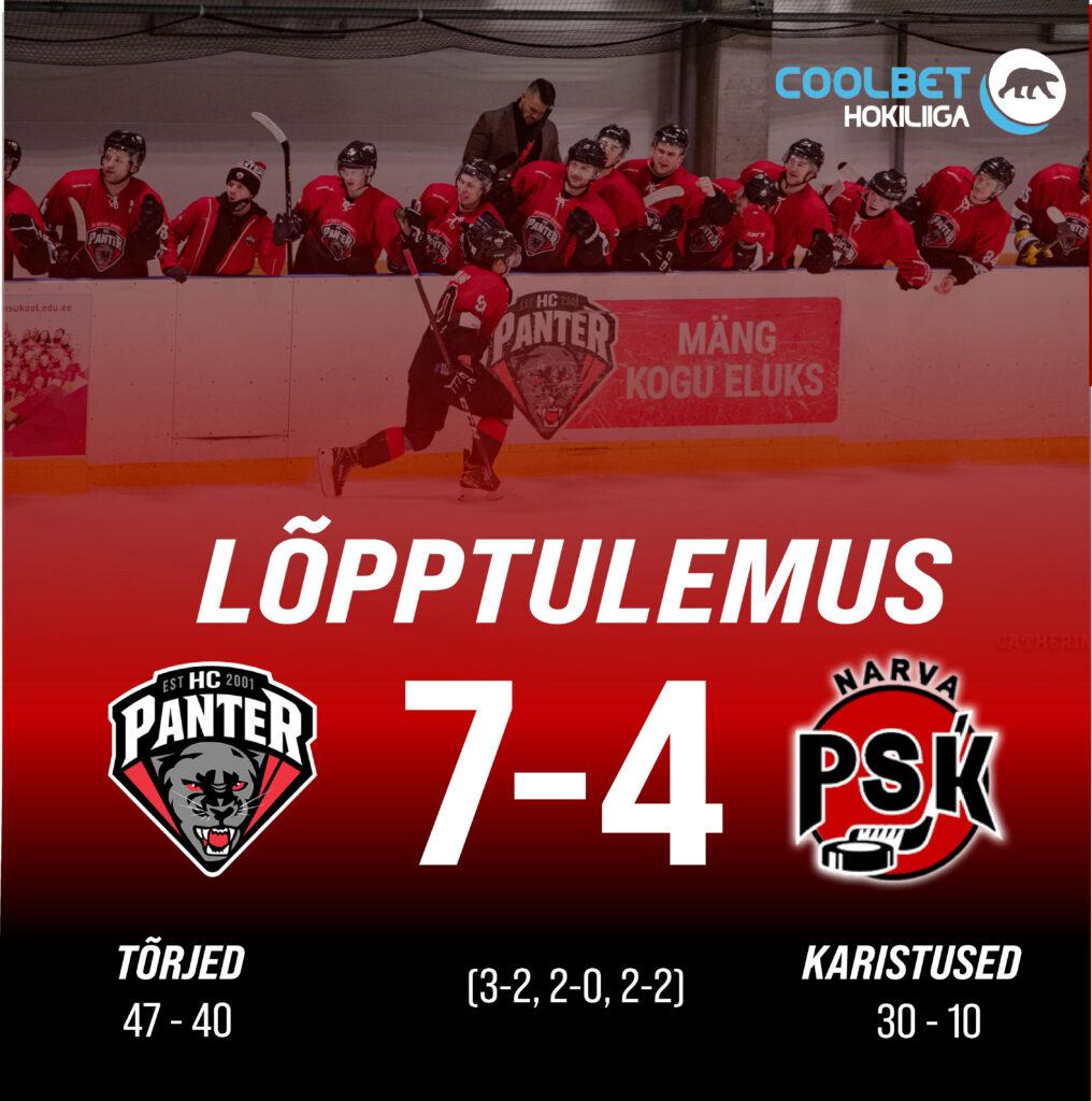 Panter võidutses koduväljakul, lõppseisuga 7-4