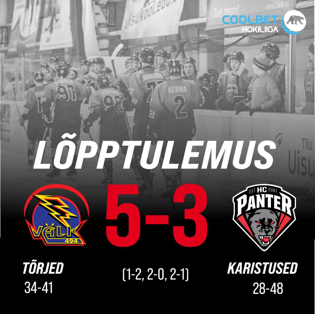 Tartu Välk suutis taas alistada HC Panteri, lõppseisuks jäi 5-3