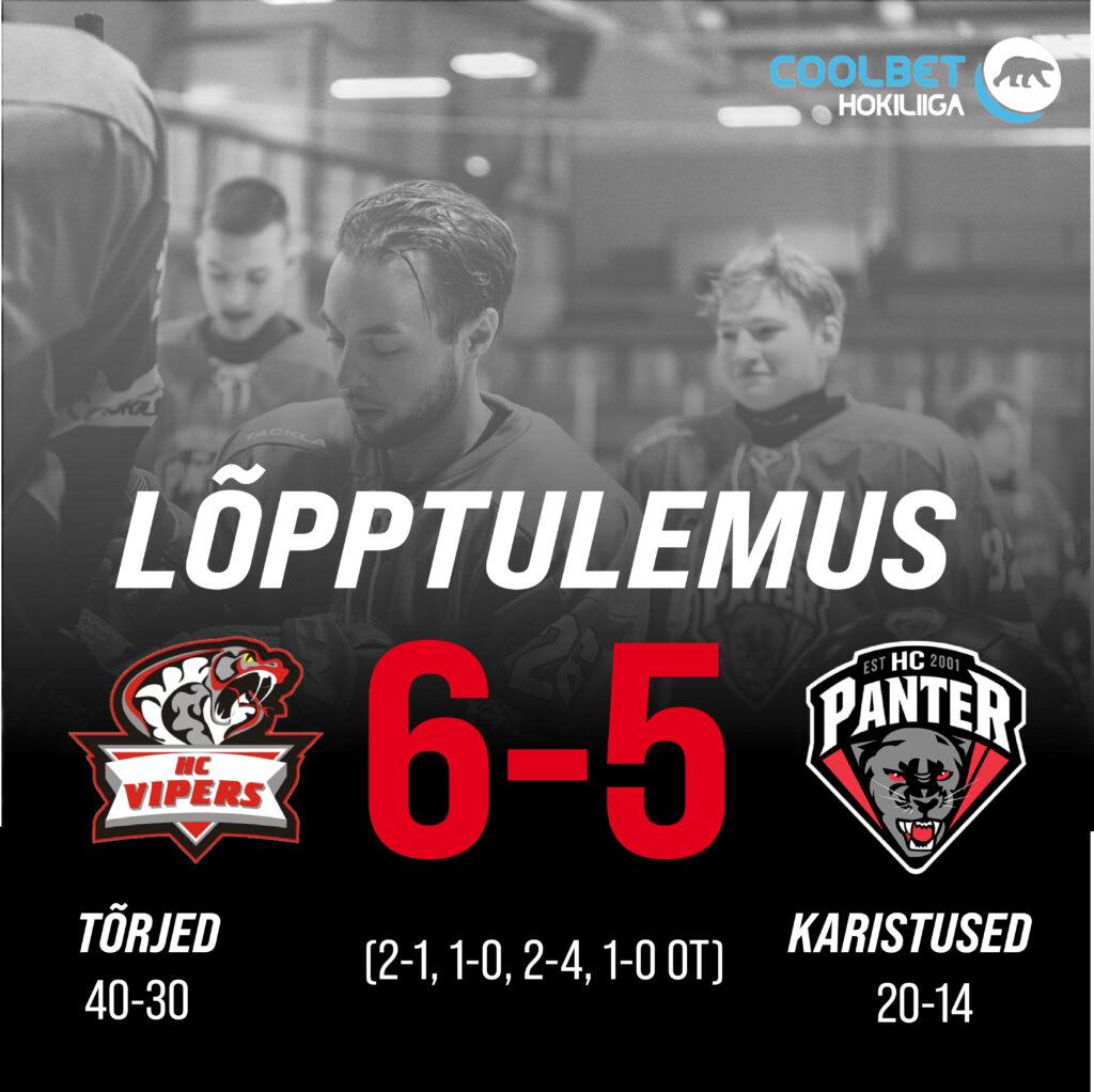 Põhiturniiri viimasel kohtumisel alistas HC Vipers bullitidega HC Pantrit, lõppseisuks jäi 6-5