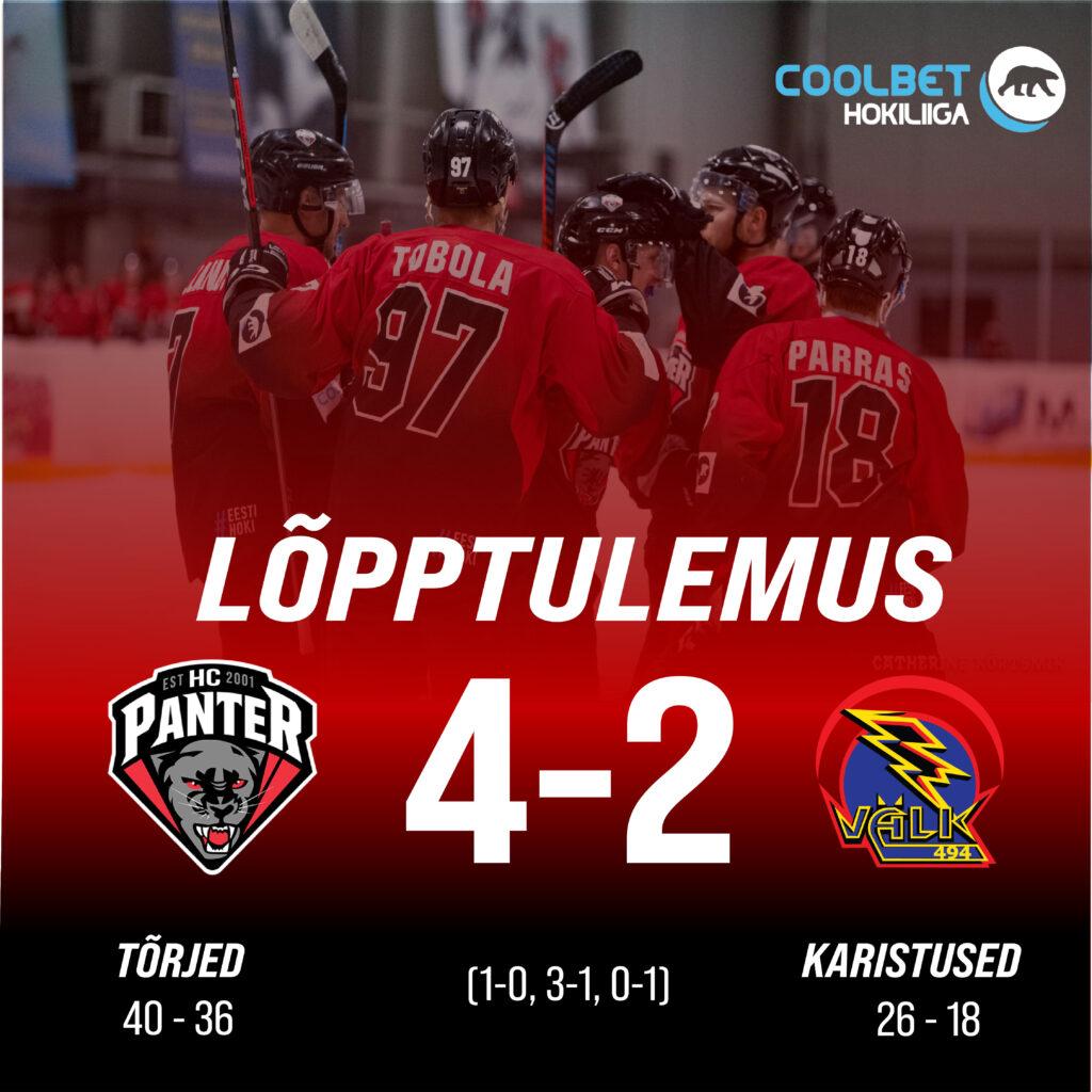 HC Panter võitis teise finaalmängu ja homme sõidetakse Tartusse, et selgitada välja võitja