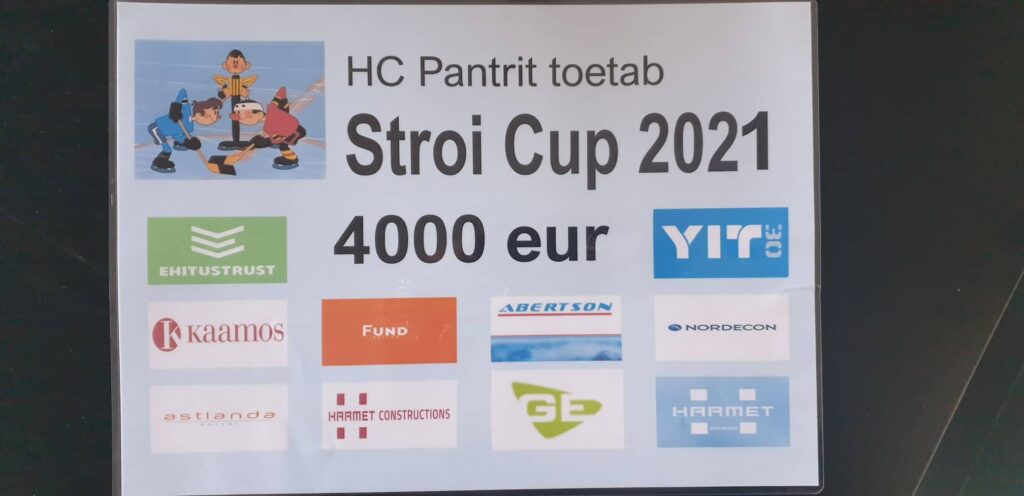 STROI CUP 2021: JÄÄHOKISÕBRAD KOGUSID 4000 EUR HC PANTER KLUBI TEGEVUSTE TOETAMISEKS!
