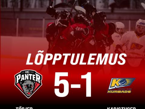 HC Panter alistas sõpruskohtumises HK Kurbadsi ning lõpptulemuseks jäi 5-1
